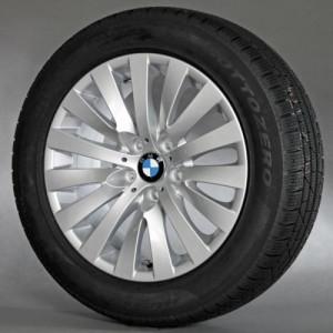 BMW Winterkompletträder V-Speiche 254 silber 18 Zoll 5er F07 7er F01 F02 F04 RDC LC