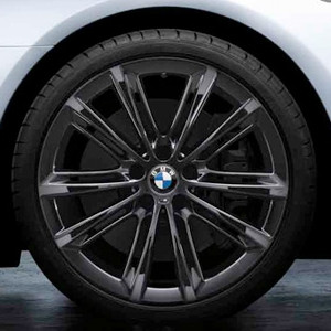 BMW Kompletträder M Performance V-Speiche 464 liquid black 20 Zoll 5er F10 F11 6er F06 F12 F13 RDC LC