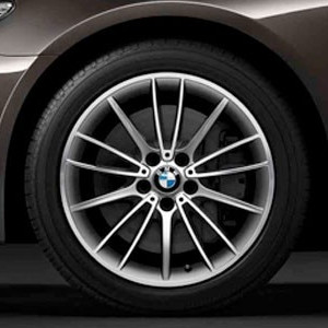 BMW Alufelge V-Speiche 426 9,5J x 19 ET 39 Bicolor (Silber / glanzgedreht) Hinterachse BMW 7er F01 F02 F04 5er F07