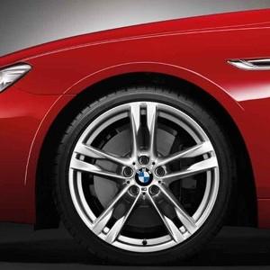 BMW Alufelge M Doppelspeiche 373 8,5J x 20 ET 33 Silber Vorderachse BMW 6er F06 F12 F13