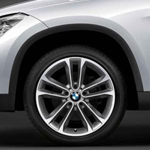 BMW Alufelge Doppelspeiche 421 8J x 18 ET 30 Bicolor (Silber / glanzgedreht) Vorderachse / Hinterachse BMW X1 E84