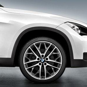 BMW Alufelge Doppelspeiche 465 9J x 19 ET 41 Bicolor (Ferricgrey / glanzgedreht) Hinterachse BMW X1 E84