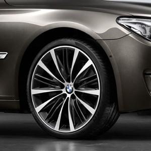 BMW Kompletträder V-Speiche 463 bicolor (ferricgrey / glanzgedreht) 21 Zoll 5er F07 7er F01 F02 F04
