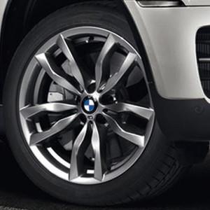 BMW Alufelge M Doppelspeiche 435 11J x 20 ET 35 Silber Hinterachse BMW X5 E70