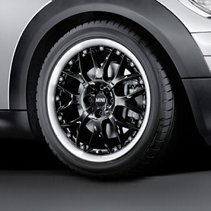 MINI Kompletträder Cross Spoke Composite R90 schwarz 17 Zoll MINI R57 R58 R59 RDC LC