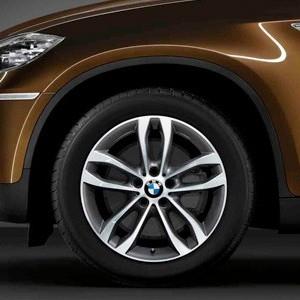 BMW Alufelge Doppelspeiche 424 9J x 19 ET 18  Bicolor (Orbitgrey / glanzgedreht) Hinterachse BMW X6 E71