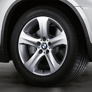 BMW Alufelge Sternspeiche 258 9J x 19 ET 18 Silber Hinterachse BMW X6 E71 E72