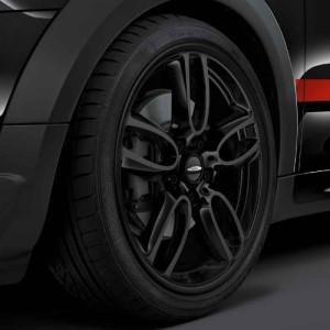 MINI Kompletträder JCW Double Spoke R129 schwarz matt 19 Zoll MINI R60 R61