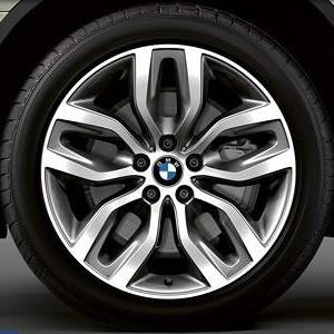 BMW Alufelge Y-Speiche 337 11J x 20 ET 37 Bicolor (ferricgrey / glanzgedreht) Hinterachse BMW X6 E71