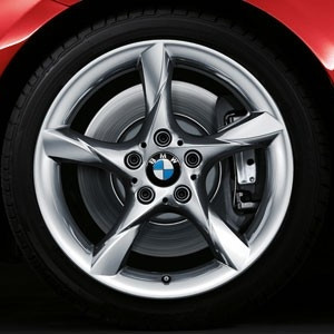 BMW Alufelge Sternspeiche 295 8,5J x 18 ET 40 Silber Hinterachse BMW Z4 E89