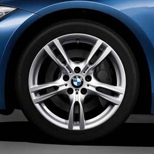 BMW Alufelge M Sternspeiche 400 8,5J x 18 ET 47 Silber Hinterachse BMW 3er F30 F31 4er F32 F33 F36