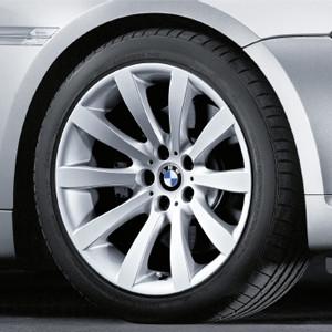 BMW Alufelge Sternspeiche 218 9J x 19 ET 14 Silber Hinterachse BMW 6er E63 E64