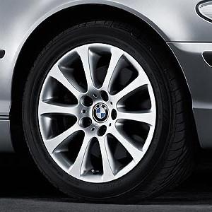 BMW Alufelge Sternspeiche 171 8J x 17 ET 47 Silber Vorderachse / Hinterachse BMW 3er E46