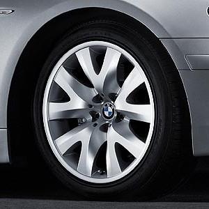 BMW Alufelge V-Speiche 126 9J x 19 ET 24 Silber Vorderachse BMW 7er E65 E66