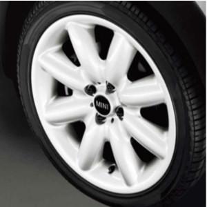 MINI Alufelge S Spoke 85 7J x 17 ET 48 Weiß Vorderachse / Hinterachse MINI R50 MINI Cabrio R52 MINI R53