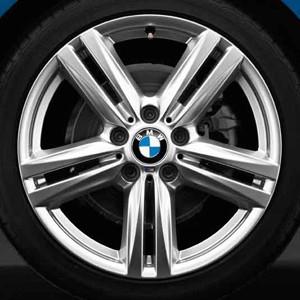 BMW Alufelge M Sternspeiche 386 8J x 18 ET 52 silber Hinterachse BMW 1er F20 F21 2er F22 F23