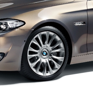 BMW Alufelge Individual V-Speiche 349 9J x 19 ET 44 Silber Hinterachse BMW 6er F06 F12 F13 5er F10