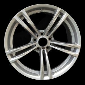 BMW Alufelge M Doppelspeiche 408 9J x 19 ET 32 Silber Vorderachse BMW 5er F10 6er F06 F12 F13