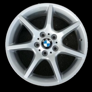 BMW Alufelge Sternspeiche 180 7,5J x 18 ET 49 Silber Vorderachse BMW 1er E81 E87