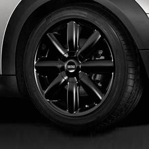 MINI Alufelge Crown Spoke 104 7J x 17 ET 48 Schwarz Vorderachse / Hinterachse MINI R50 MINI Cabrio R52 R57 MINI R53 R56 MINI Clubman R55 MINI Coupe R58 MINI Roadster R59