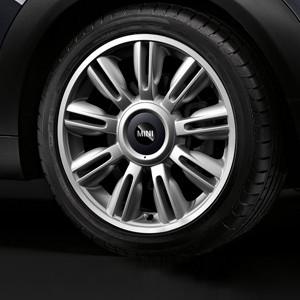 MINI Alufelge Twin Blade Spoke 130 7J x 17 ET 48 Silber Vorderachse / Hinterachse MINI Clubman R55 MINI R56 MINI Cabrio R57 MINI Coupe R58 MINI Roadster R59