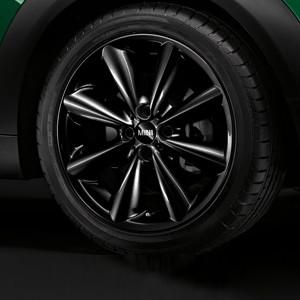 MINI Alufelge Conical Spoke 121 7J x 17 ET 48 Schwarz Vorderachse / Hinterachse MINI Clubman R55 MINI R56 MINI Cabrio R57 MINI Coupe R58 MINI Roadster R59