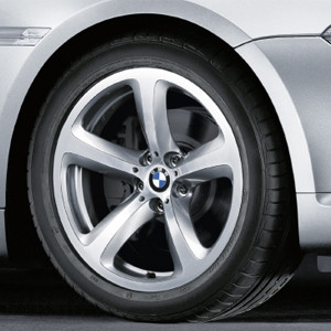 BMW Alufelge Sternspeiche 249 9J x 19 ET 14 Silber Hinterachse BMW 6er E63 E64