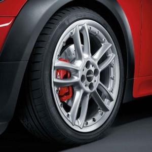 MINI Alufelge Double-Spoke R109 Composite 7J x 18 ET 52 Silber Vorderachse / Hinterachse MINI R50 MINI Cabrio R52 R57 MINI R53 R56 MINI Clubman R55 MINI Coupe R58 MINI Roadster R59