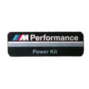 BMW M Performance Alu-Plakette PowerKit