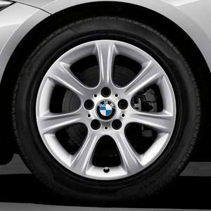 BMW Winterkompletträder Sternspeiche 394 silber 17 Zoll 3er F34 GT RDCi