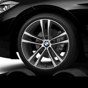 BMW Alufelge M Doppelspeiche 598 8J x 19 ET 30 Bicolor (Orbitgrey / glanzgedreht) Vorderachse BMW 3er F34 GT