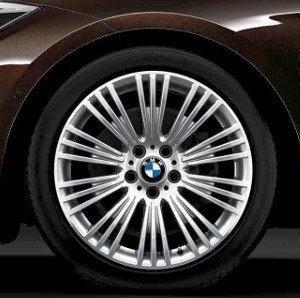 BMW Alufelge W-Speiche 440 8J x 19 ET 30 Bicolor (Spacegrau / glanzgedreht) Vorderachse BMW 3er F34 GT
