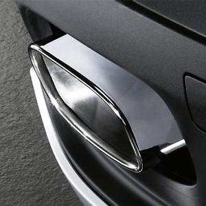BMW Endrohrblenden links und rechts Chrom X5 4,8l-Optik
