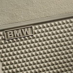 BMW Satz Gummimatten hinten beige, passend für 5er F10 / F11