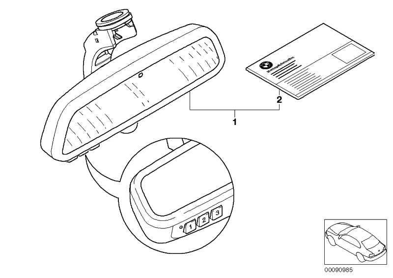 Innenspiegel EC / Kompass  3er 5er 6er X3 X5  (51167148837)