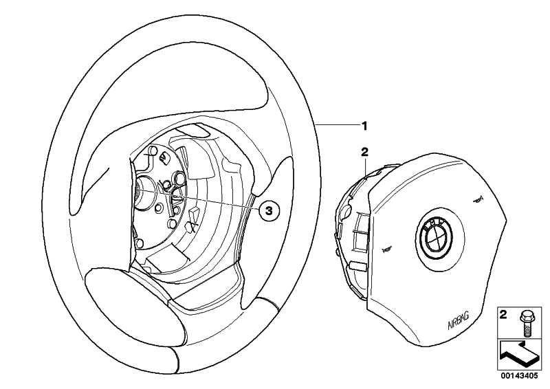 Airbagmodul Fahrerseite  3er X1  (32306779829)