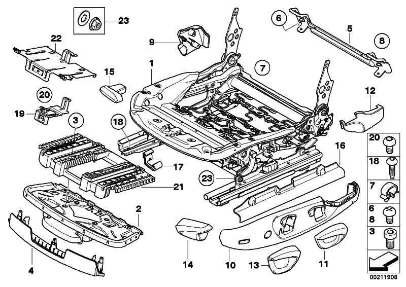 Sitzmechanik rechts  1er 3er X1  (52107139026)