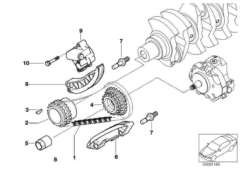 Kettenrad Hochdruckpumpe  1er 3er 5er 6er 7er X3 X5 X6  (13527787279)