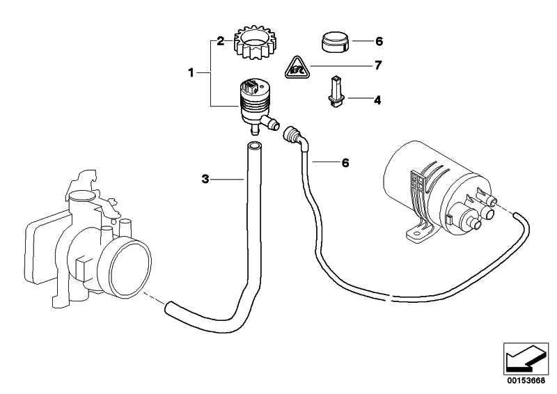Tankentlüftungsventil  3er  (13901705497)