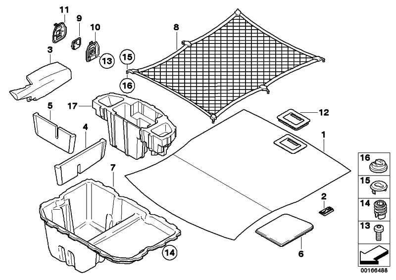 Einlegeplatte Gepäckraum  3er  (51477059233)