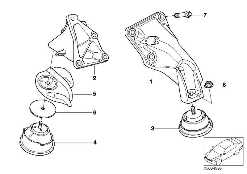 Gummilager links  3er Z4  (22116785583)
