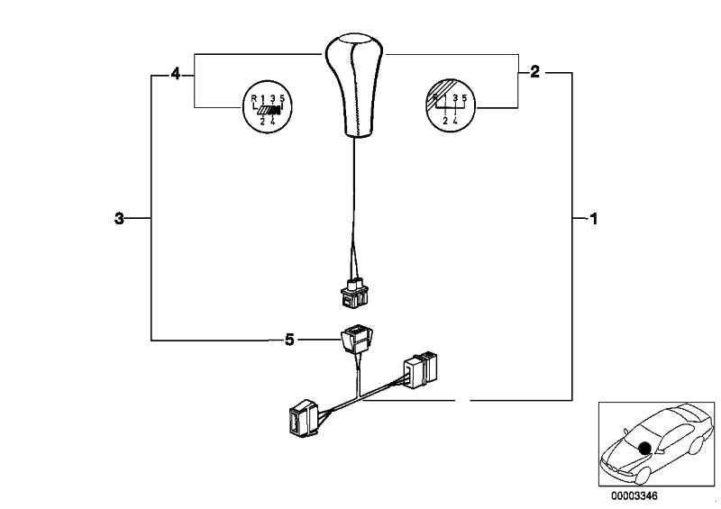 Nachrüstsatz Schaltknopf Leder beleucht. M-SPORT/5-GANG  3er 5er 7er  (25112231561)