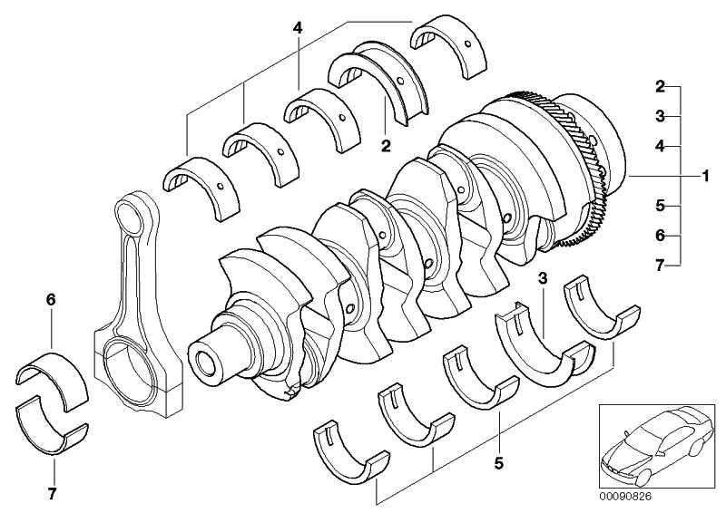 Austausch Kurbelwelle mit Lagerschalen  1er 3er 5er  (11217807188)
