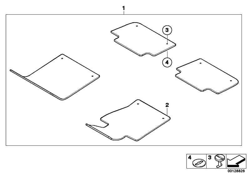 Drehverschluss 22,5mm GRAU            3er  (51478243735)
