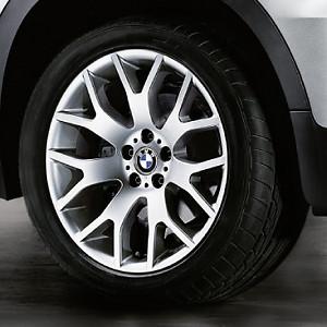 BMW Kompletträder Kreuzspeiche 177 silber 20 Zoll X5 E70 F15 X6 F6