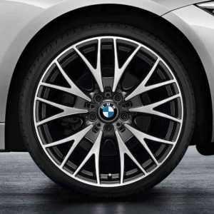 BMW Kompletträder Kreuzspeiche 404 bicolor (schwarz / glanzgedreht) 20 Zoll 3er F30 F31 4er F32 F33 F36