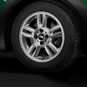 MINI Alufelge 5 Star Twin Spoke 118 5,5J x 15 ET 45 Silber Vorderachse / Hinterachse MINI Clubman R55 MINI R56 MINI Cabrio R57 MINI Coupe R58 MINI Roadster R59
