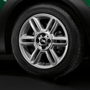 MINI Alufelge 6 Star Twin Spoke R119 6,5J x 16 ET 48 Silber Vorderachse / Hinterachse MINI Clubman R55 MINI R56 MINI Cabrio R57 MINI Coupe R58 MINI Roadster R59