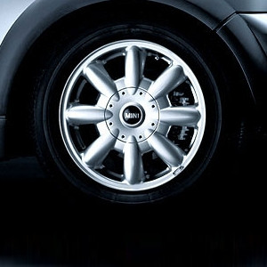 MINI Alufelge 8 Spoke 82 5,5J x 15 ET 45 Silber Vorderachse / Hinterachse MINI R50 MINI Cabrio R52 MINI R53