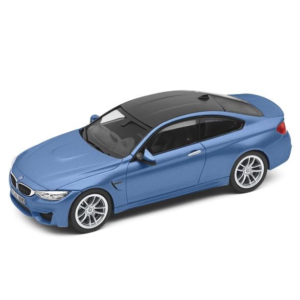 BMW M4 Coupé F82 M blau Miniatur 1:43